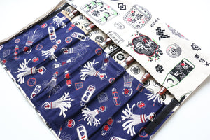 Japanese Style Knife Roll Shirosake-Ura-Konhikeshi&Shirokamon 7 Pockets