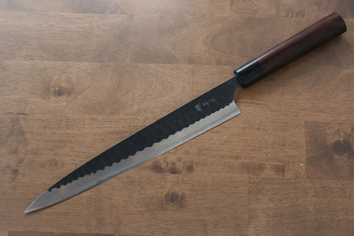 Katsushige Anryu Blue Super Sujihiki Japanese Knife 270mm Shitan Handle - Japanny - Best Japanese Knife