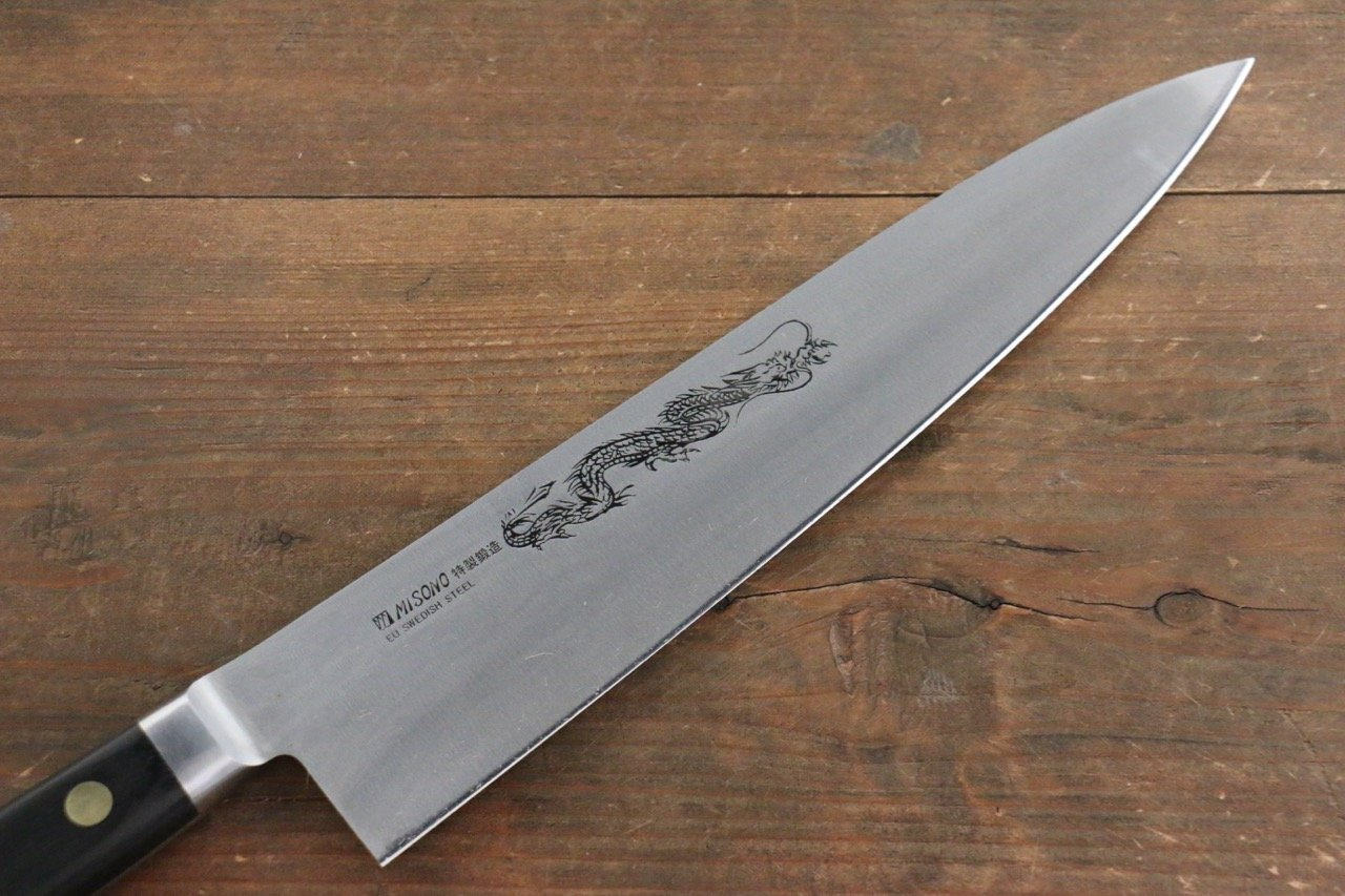 Beau Misono Swedish Steel Gyuto Japanese Chef Knife Dragon Engraving