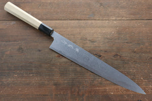 Kikumori Blue Steel No.1 Damascus Sujihiki Japanese Knife 270mm with Magnolia Handle