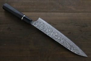 Takeshi Saji R2/SG2 Black Damascus Gyuto Japanese Chef Knife 210mm with Ebony  handle