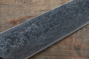 Takeshi Saji R2/SG2 Diamond Finish Damascus Gyuto Japanese Knife 210mm with Green Micarta Handle