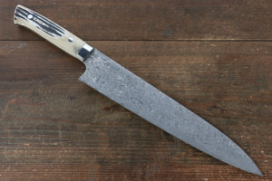 Takeshi Saji R2/SG2 Black Damascus Gyuto Japanese Knife 270mm with Cow Bone  Handle