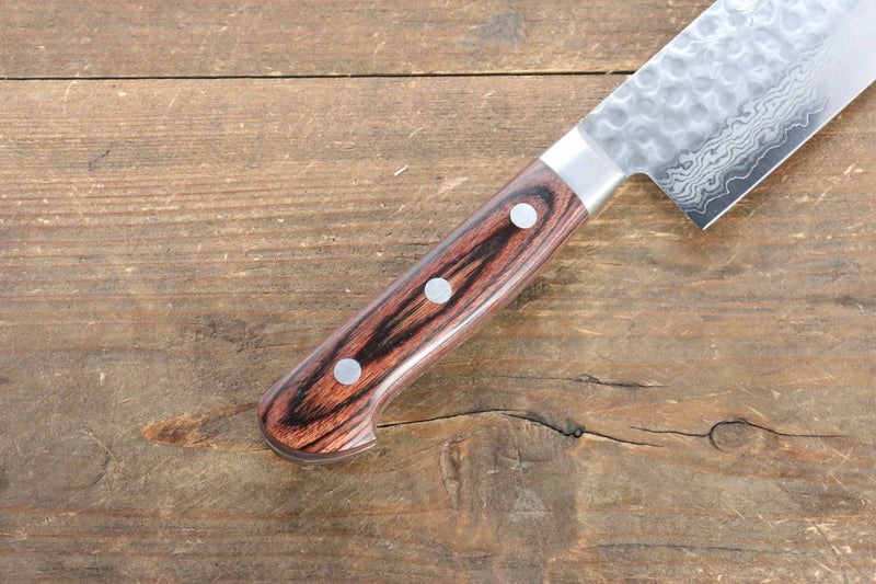Jikko VG10 17 Layer Nakiri Japanese Knife 160mm Mahogany Handle