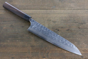 Seisuke Blue Steel No.2 Hammered Damascus Gyuto Japanese Chef Knife 240mm