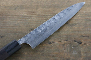 Seisuke Blue Steel No.2 Hammered Damascus Petty Japanese Chef Knife 150mm