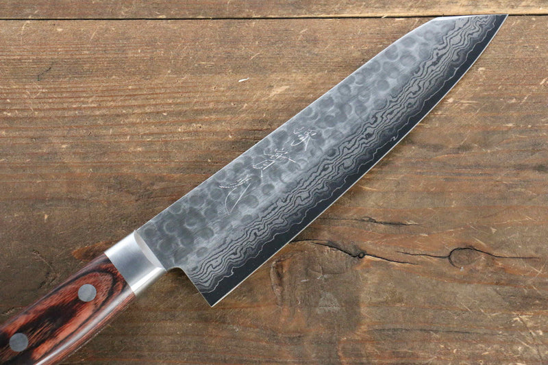 Jikko VG10 17 Layer Kiritsuke Gyuto Japanese Knife 170mm Mahogany Handle - Japanny - Best Japanese Knife