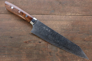 Takeshi Saji R2/SG2 Diamond Finish Damascus Kiritsuke Japanese Knife 210mm with Ironwood Handle