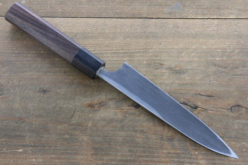 Seisuke Blue Steel No.2 Hammered Kurouchi Petty Japanese Chef Knife 150mm - Japanny - Best Japanese Knife