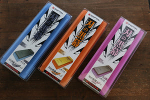 Shapton Kuromaku series Blue black, Orange & Enji Set