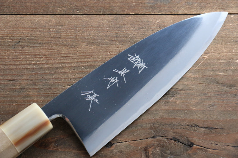 Yu Kurosaki Blue Steel No.2 Mirrored Finish Deba Japanese Knife 150mm Magnolia Handle - Japanny - Best Japanese Knife