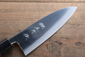 Yu Kurosaki Blue Steel No.2 Mirrored Finish Deba Japanese Knife 165mm with Shitan Handle
