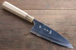 Yu Kurosaki Blue Steel No.2 Mirrored Finish Deba Japanese Knife 165mm with Magnolia Handle
