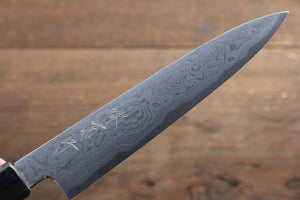 Kikumori Blue Steel No.1 Damascus Petty-Utility Japanese Knife 150mm with Magnolia Handle