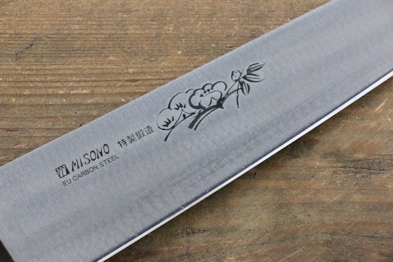 Misono Swedish Steel Gyuto Knife 210mm Ume engraving - Japanny ...
