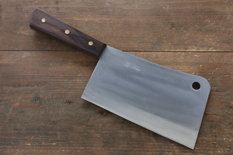 Seisuke Whole steel  Chinese Cleaver Japanese Knife 180mm Shitan Handle - Japanny - Best Japanese Knife