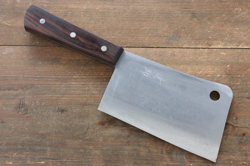 Seisuke Whole steel  Chinese Cleaver Japanese Knife 150mm Shitan Handle - Japanny - Best Japanese Knife