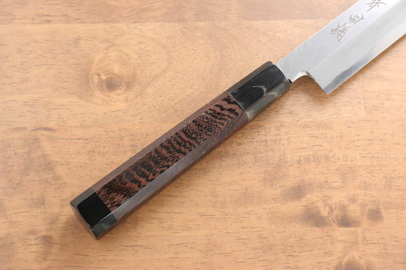 Sakai Takayuki Tokujyo White Steel No.2 Yanagiba Japanese Knife Wenge with Double Water Buffalo Ring Handle - Japanny - Best Japanese Knife