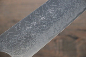 Takeshi Saji R2/SG2 Diamond Finish Damascus Gyuto Japanese Chef Knife 210mm with Ebony  handle