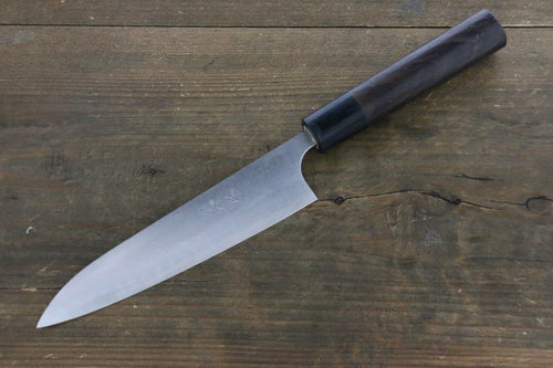 Ogata White Steel No.2  Damascus Petty-Utility Japanese Knife 150mm with Shitan Handle - Japanny - Best Japanese Knife