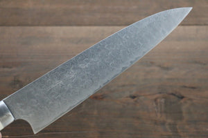 Takeshi Saji R2/SG2 Diamond Finish Damascus Gyuto Japanese Chef Knife 210mm with Bone Handle