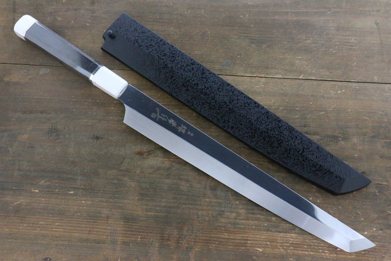 Sakai Takayuki Ginryu Honyaki Swedish Steel Mirrored Finish Sakimaru Yanagiba Japanese Knife 300mm Ebony Wood Handle with Sheath - Japanny - Best Japanese Knife