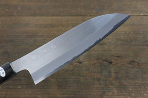 Mutsumi Hinoura White Steel Migaki Finished Santoku Japanese Chef Knife 165mm
