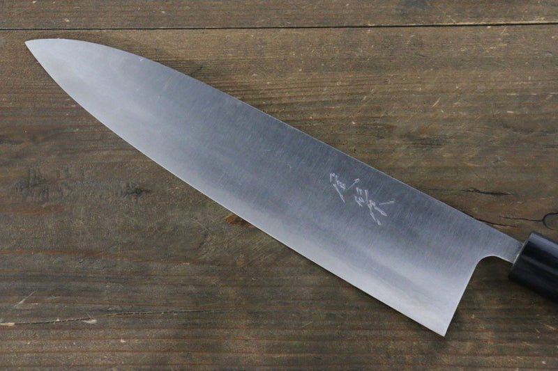 Ogata White Steel No.2  Damascus Gyuto Japanese Knife 240mm with Shitan Handle - Japanny - Best Japanese Knife