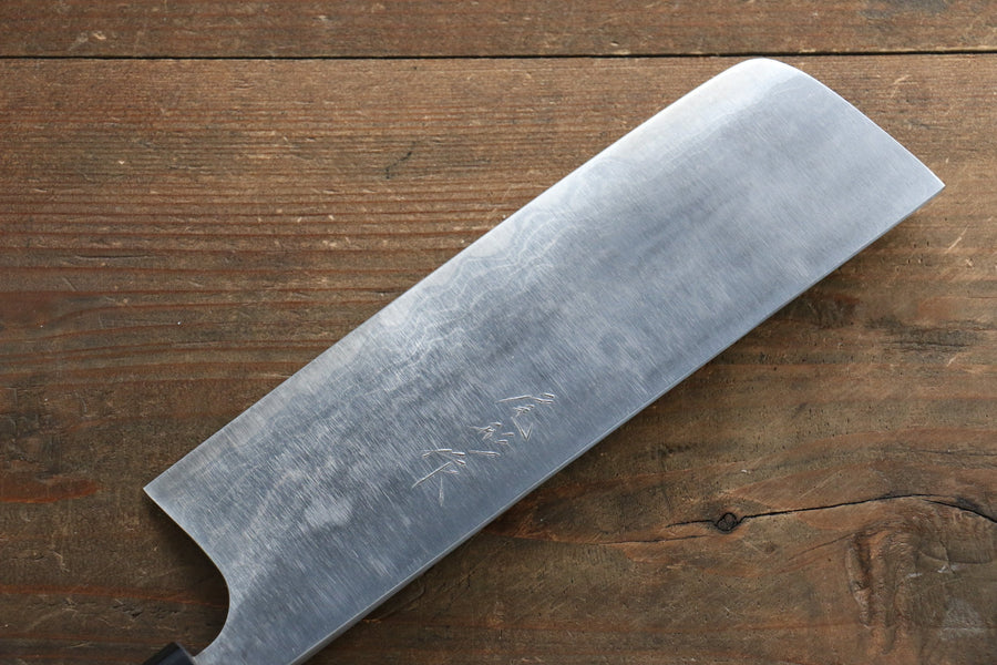 Ogata White Steel No.2  Damascus Nakiri Japanese Knife 165mm with Shitan Handle