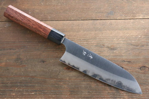 Seisuke White Steel Migaki Finished Santoku Japanese Knife 165mm with Honduras Handle - Japanny - Best Japanese Knife