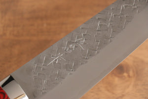 Katsushige Anryu 3 Layer Cladding Blue Super Core Hammerd Japanese Chef's Petty-Utility Knife 130mm