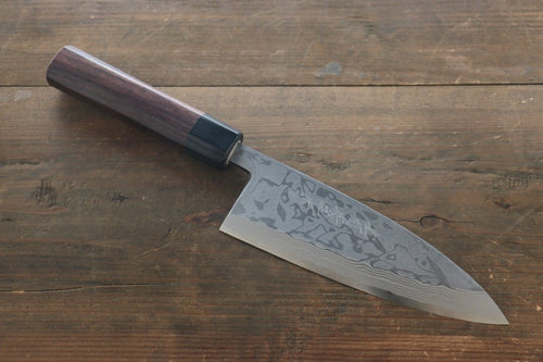Hideo Kitaoka Blue Steel No.2 Damascus Deba Japanese Chef Knife 180mm - Japanny - Best Japanese Knife