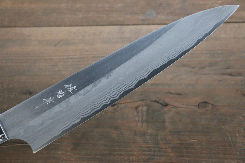 Saji Blue Super Steel Gyuto Japanese Chef Knife 240mm with Black Micarta handle - Japanny - Best Japanese Knife