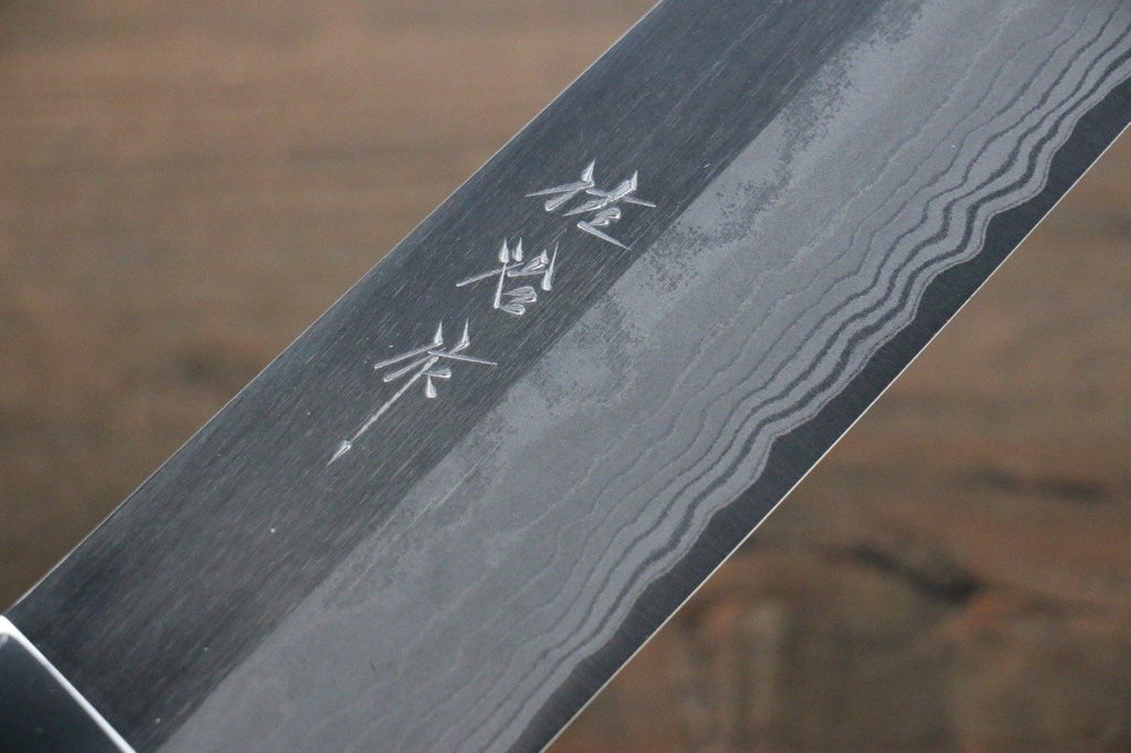 Saji Blue Super Steel Gyuto Japanese Chef Knife 240mm wtih Black Micarta handle