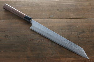 Hideo Kitaoka White Steel No.2 Damascus Kiritsuke Yanagiba Japanese Chef Knife 270mm