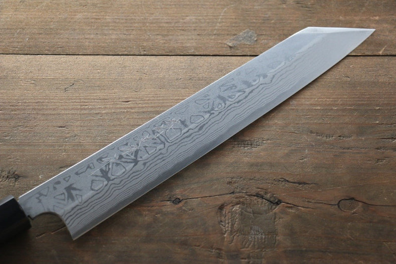 Hideo Kitaoka White Steel No.2 Damascus Kiritsuke Yanagiba Japanese Chef Knife 240mm - Japanny - Best Japanese Knife