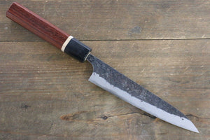Yu Kurosaki Blue Super Clad Hammered Kurouchi Petty Japanese Chef Knife 120mm with Padoauk Handle