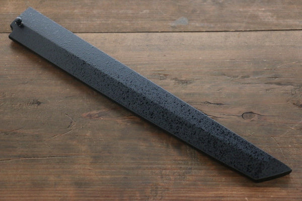 Kuroishime Saya Sheath for Sakimaru Takohiki Knife with Ebony Pin-270mm