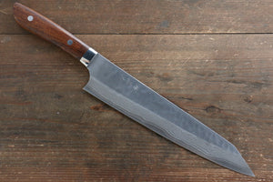 Takeshi Saji SRS13 Hammered(Maru) Kengata Gyuto Japanese Knife 240mm with Ironwood Handle