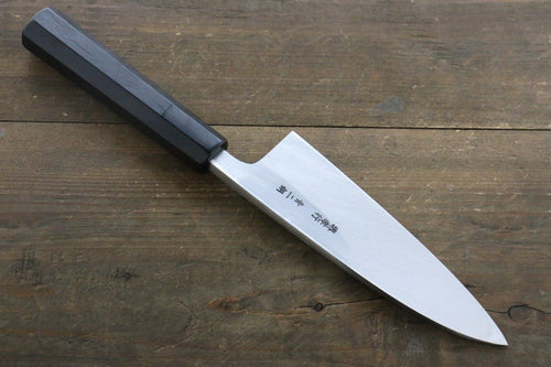 Sakai Takayuki Blue Steel No.2 Deba Japanese Knife Ebony Wood Handle - Japanny - Best Japanese Knife