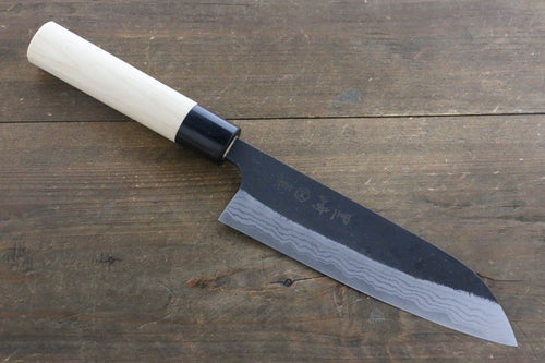 Makoto Kurosaki White Steel No.2 Damascus Santoku Japanese Chef Knife 170mm - Japanny - Best Japanese Knife