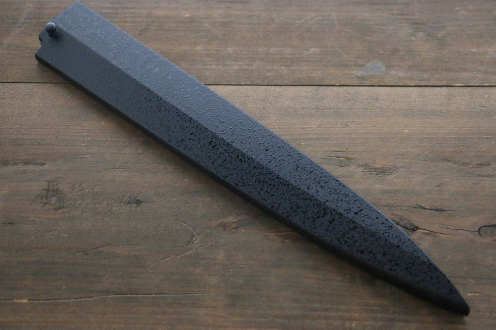 Kuroishime Saya Sheath for Yanagiba Sashimi Knife with Ebony Pin-240mm