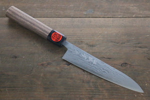 Shigeki Tanaka Blue Steel No.2  17 Layer Damascus Petty Japanese Chef Knife 150mm with Walnut Handle