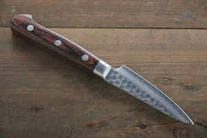 Seisuke 17 Layer Damascus Hammered Japanese Chef Petty Utility Knife 80mm