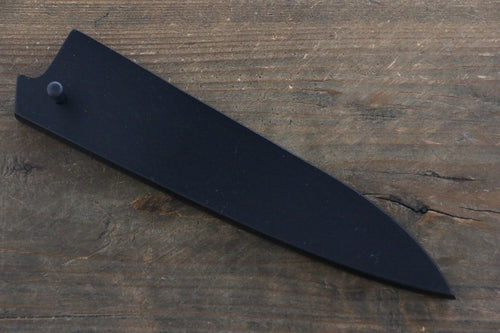 Black Saya Sheath for Petty Chef's Knife with Plywood Pin-150mm - Japanny - Best Japanese Knife