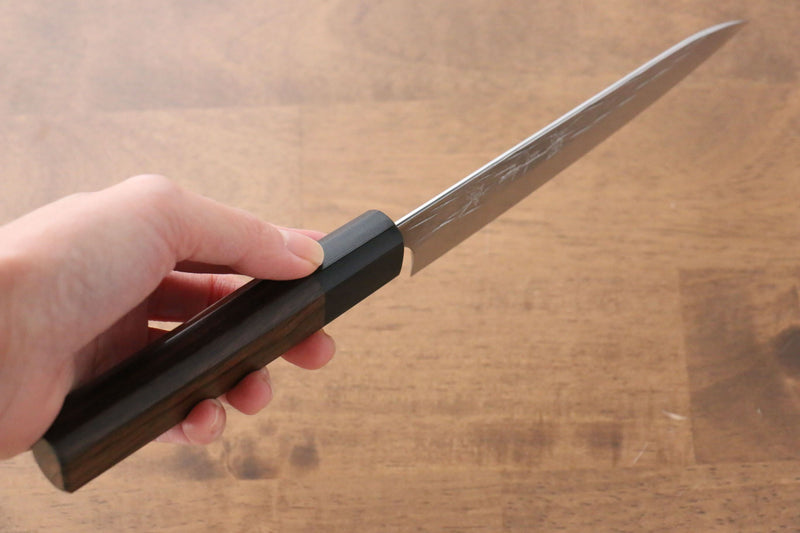 Yu Kurosaki Juhyo R2/SG2 Hammered Petty-Utility Japanese Knife 150mm Shitan Handle - Japanny - Best Japanese Knife