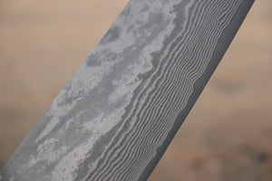 Takeshi Saji VG10 Black Damascus Santoku Japanese Chef Knife 180mm with IronWood Handle