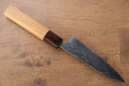 Yu Kurosaki Juhyo R2/SG2 Hammered Petty-Utility Japanese Knife 120mm Keyaki (Japanese Elm) Handle - Japanny - Best Japanese Knife