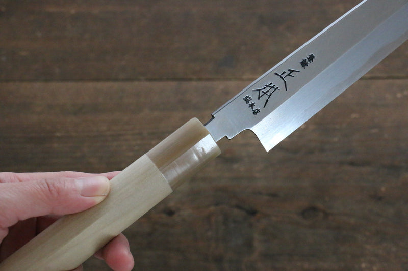 Masamoto Hongasumi White Steel No.2 Deba Japanese Knife Magnolia Handle - Japanny - Best Japanese Knife