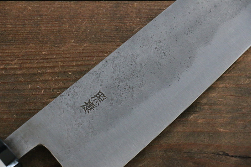 Fujiwara Teruyasu White Steel No.1 Nashiji Santoku Japanese Knife 180mm with Magnolia Handle - Japanny - Best Japanese Knife